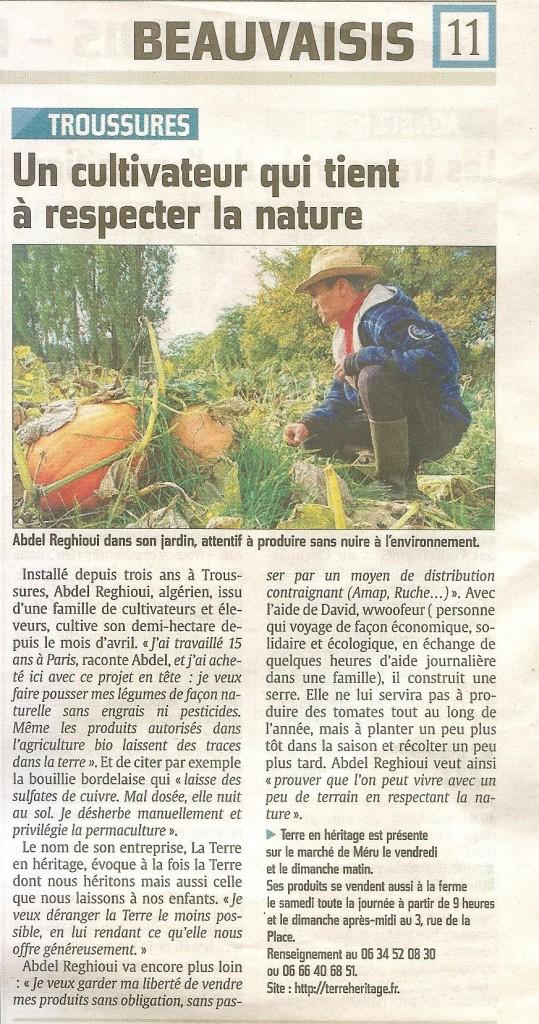 Le Courrier Picard 16 10 2015